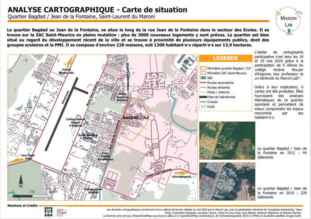 carte Saint-Laurent du Maroni